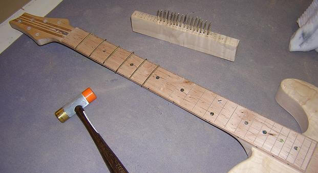 Building A Guitar Can You Install Frets Last