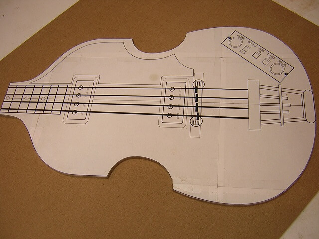 Tundra boy bass building the body 2nd attempt the for Bass guitar body templates